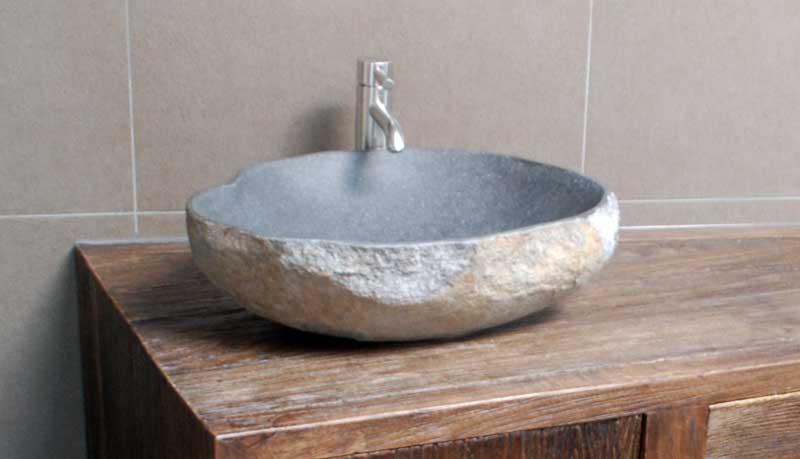 Waschtisch Badezimmer Mit Steinbecken