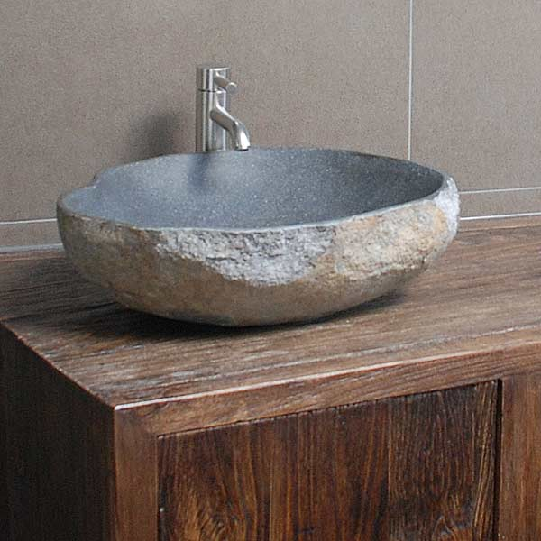 Naturstein Badezimmer Pflege  Waschbecken aus Stein und Marmor für