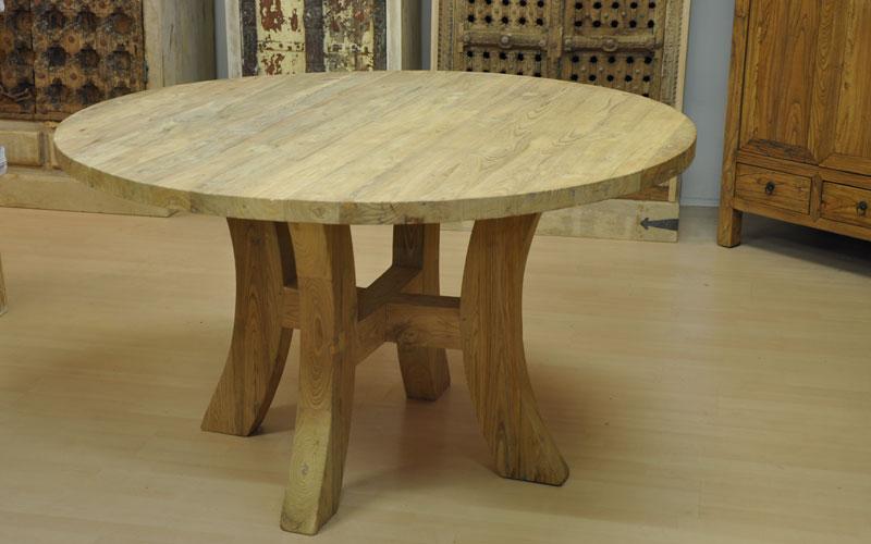 stanley ist eines der runden teakholz tisch modelle von malabar schweiz. Black Bedroom Furniture Sets. Home Design Ideas