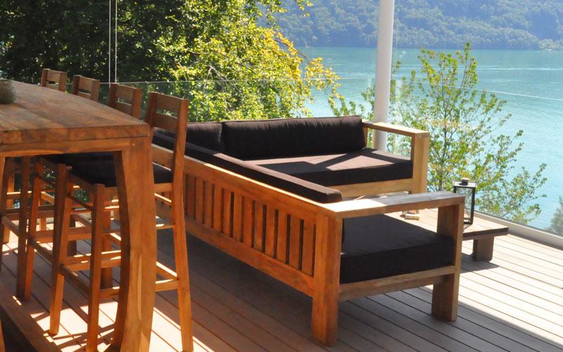 Lounge Mobel Aus Teak Und Rattan Fur Garten Und Terrasse