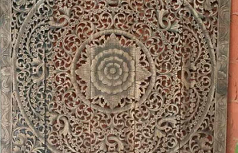Mandalapanels aus thailand for Orientalische wanddeko