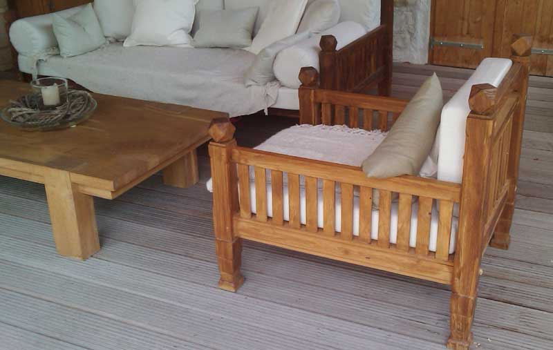 Lounge Sessel aus Massivholz