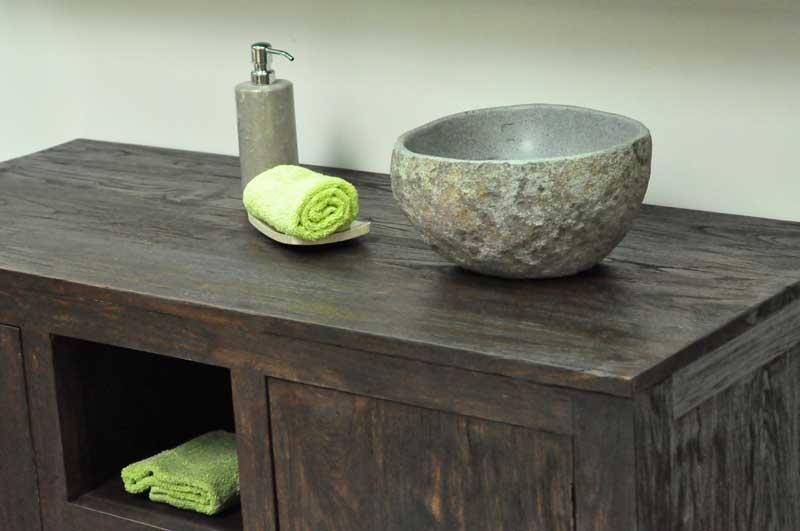 massivholz waschtische waschtisch unterschrank aus teak holz und m bel f r das badezimmer. Black Bedroom Furniture Sets. Home Design Ideas