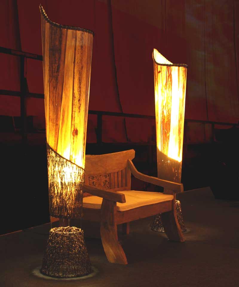 Desing leuchten holzlampen und seidenlampen aus thailand - Wohnzimmer licht aus ...