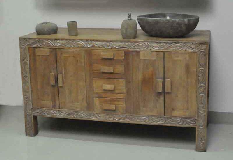 massivholz waschtische waschtisch unterschrank aus teak. Black Bedroom Furniture Sets. Home Design Ideas