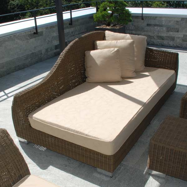 lounge m bel aus teak und rattan f r garten und terrasse. Black Bedroom Furniture Sets. Home Design Ideas