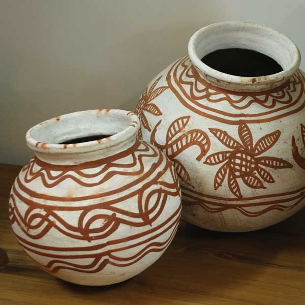 Clay Pots Painted Large
